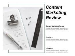 Content Marketing Review Ppt Powerpoint Presentation Ideas Graphics Download Cpb