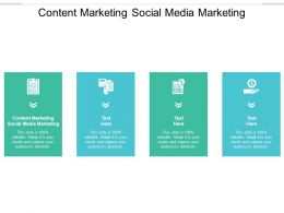 Content Marketing Social Media Marketing Ppt Powerpoint Presentation File Templates Cpb