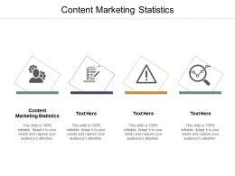 Content Marketing Statistics Ppt Powerpoint Presentation Themes Cpb