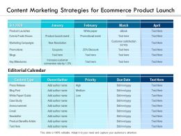Content Marketing Strategies For Ecommerce Product Launch