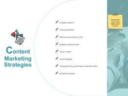 Content Marketing Strategies Visual Content Ppt Powerpoint Presentation Portfolio