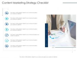 Content Marketing Strategy Checklist Infographic Template