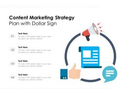 Content Marketing Strategy Plan With Dollar Sign