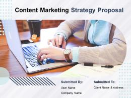 Content Marketing Strategy Proposal Powerpoint Presentation Slides