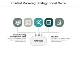 Content Marketing Strategy Social Media Ppt Powerpoint Presentation Ideas Background Image Cpb