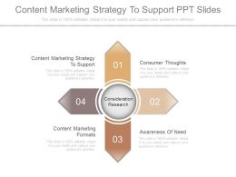 Content Marketing Strategy To Support Ppt Slides