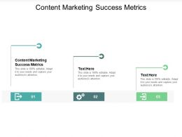 Content Marketing Success Metrics Ppt Powerpoint Presentation Layouts Introduction Cpb