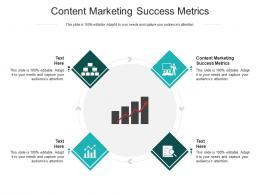 Content Marketing Success Metrics Ppt Powerpoint Presentation Show Deck Cpb