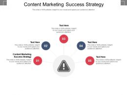 Content Marketing Success Strategy Ppt Powerpoint Presentation Layouts Background Cpb