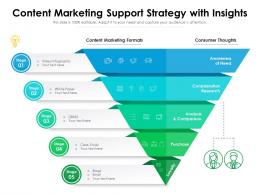 Content Marketing Support Strategy With Insights