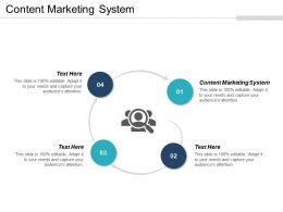 Content Marketing System Ppt Powerpoint Presentation File Deck Cpb