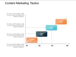 Content Marketing Tactics Ppt Powerpoint Presentation Gallery Layouts Cpb