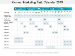 Content Marketing Task Calendar 2019