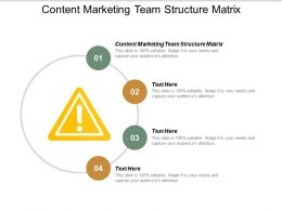 Content Marketing Team Structure Matrix Ppt Powerpoint Presentation Outline Example Introduction Cpb