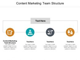 Content Marketing Team Structure Ppt Powerpoint Presentation Model Slides Cpb