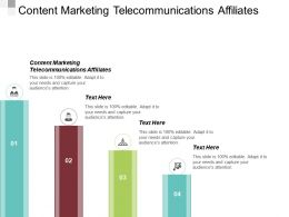 Content Marketing Telecommunications Affiliates Ppt Powerpoint Presentation File Good Cpb