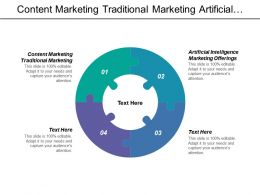 Content Marketing Traditional Marketing Artificial Intelligence Marketing Offerings Cpb