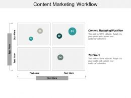 Content Marketing Workflow Ppt Powerpoint Presentation Ideas Graphics Pictures Cpb