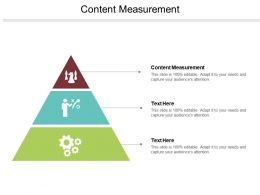 Content Measurement Ppt Powerpoint Presentation File Slide Download Cpb