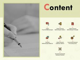 Content Methodologies Methods L152 Ppt Powerpoint Presentation Ideas