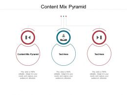Content Mix Pyramid Ppt Powerpoint Presentation Show Skills Cpb
