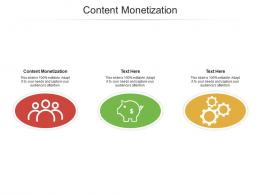 Content Monetization Ppt Powerpoint Presentation Pictures Deck Cpb