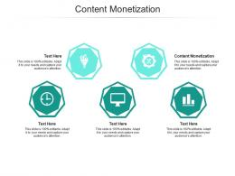 Content Monetization Ppt Powerpoint Presentation Pictures Shapes Cpb