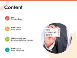 Content Net Promoter Score Ppt Powerpoint Presentation Model Infographic Template