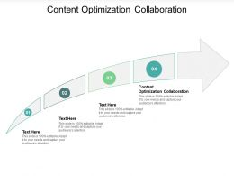 Content Optimization Collaboration Ppt Powerpoint Presentation Professional Cpb