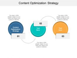 Content Optimization Strategy Ppt Powerpoint Presentation Professional Structure Cpb