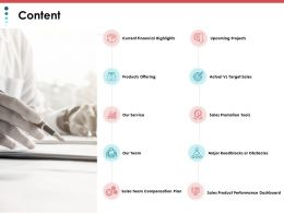 Content Our Service Ppt Powerpoint Presentation File Infographics