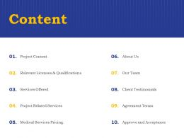 Content Our Team A1286 Ppt Powerpoint Presentation Outline Brochure