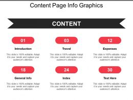 Content Page Info Graphics