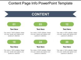 Content Page Info Powerpoint Template