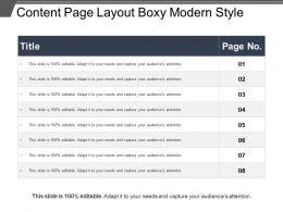 Content Page Layout Boxy Modern Style