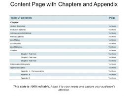 Content Page With Chapters And Appendix