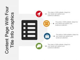 Content Page With Four Title Info Graphics