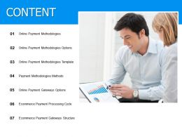 Content Payment Methodologies Ppt Powerpoint Presentation Diagram Lists