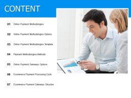 Content Payment Methodologies Ppt Powerpoint Presentation Diagram Lists