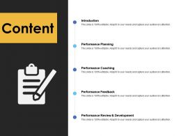 Content Performance Coaching A233 Ppt Powerpoint Presentation Slides Good