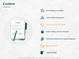 Content Performance Measurement L757 Ppt Powerpoint Presentation