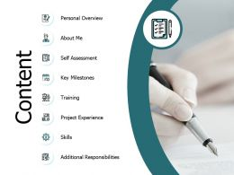 Content Personal Overview J152 Ppt Powerpoint Presentation File Gallery