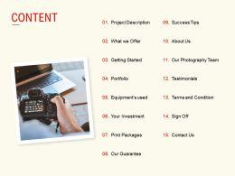 Content Portfolio Investment L529 Ppt Powerpoint Presentation Tips