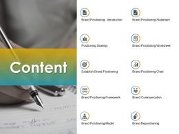 Content Positioning Strategy B283 Ppt Powerpoint Presentation File Formats