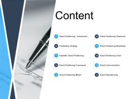 Content Positioning Strategy L610 Ppt Powerpoint Presentation Gallery