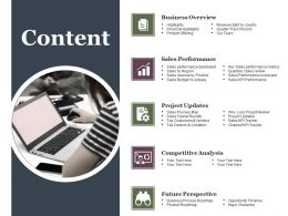 Content Powerpoint Slide Design Templates