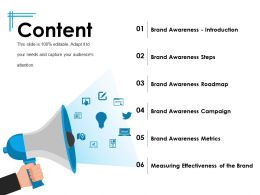 Content Powerpoint Slide Information Template 1