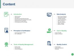 Content Ppt Sample Presentations