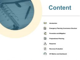 Content Preparedness Planning Ppt Powerpoint Presentation File Styles