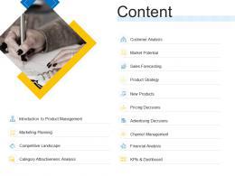 Content Product Channel Segmentation Ppt Elements